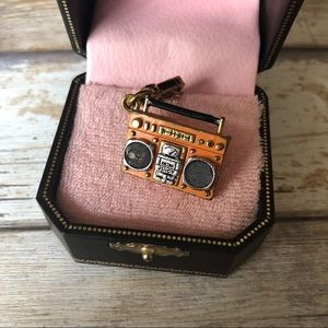 Juicy Couture Retro Boombox Music Box Stereo Charm